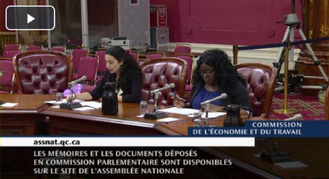 Audition d'ATF en Commission parlementaire